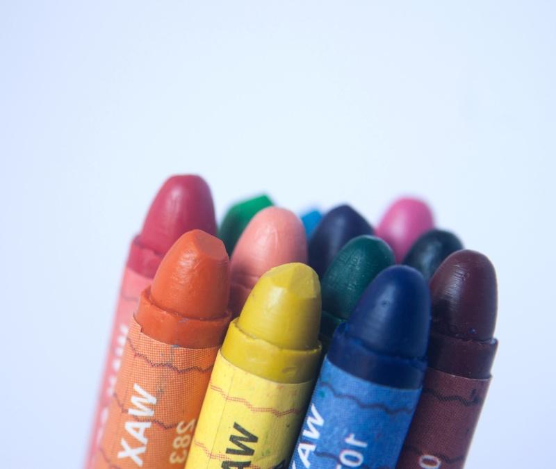 stift, farger, haug, utdanning, fargerike, blyant, rainbow, skole, tegning, kunst