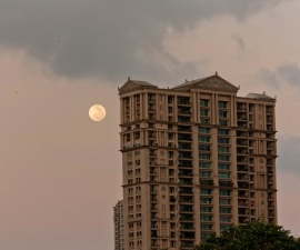 moon, day, time, building, architecture, city, urban