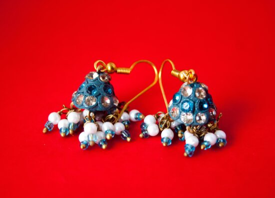 metal, earrings, jewelry, decoration, gold, holiday, gift, ornament