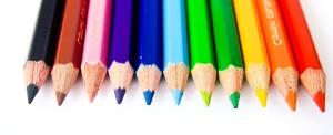 색상, 연필, 레인 보우, 크레용, 교육, 학교, 다채로운, 레인 보우, 예술