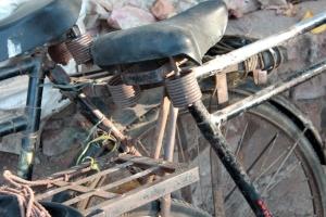 gamle, sykkel, resirkulere, objekt, rust