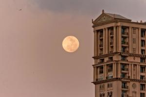 exterior, Moon, building, sky, architecture, building, city