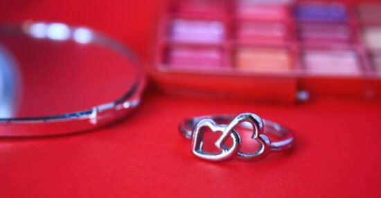 jewelry, decoration, silver, makeup, mirror