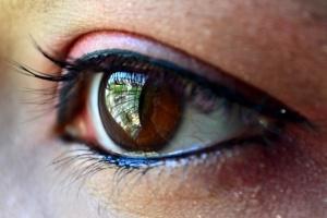 szem, szempilla, makró