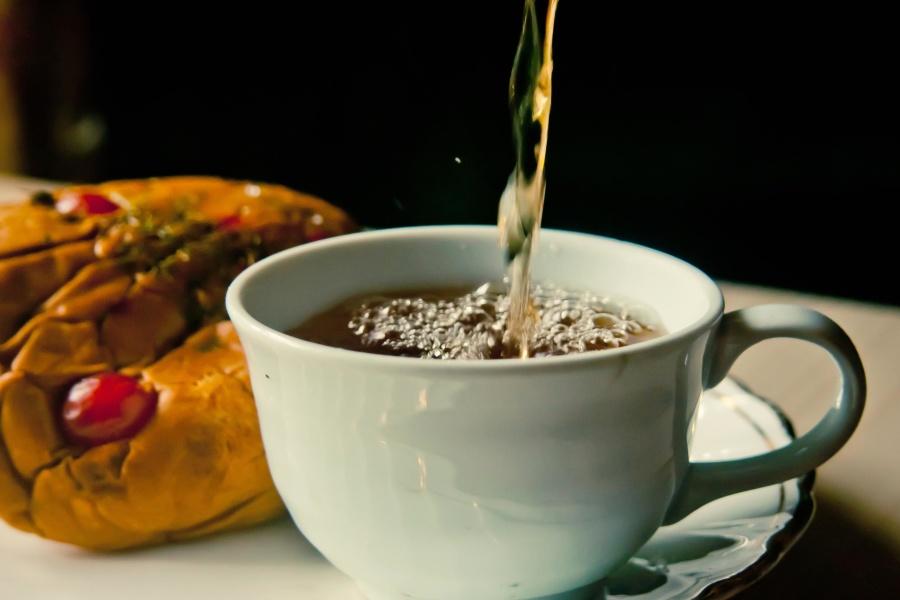 πρωινό, ποτά, τσάι, καφέ, τροφίμων, Κύπελλο, Κύπελλο, ζεστό, πρωινό