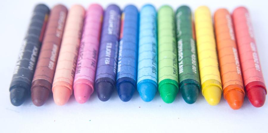 크레용, 색, 다채로운, 개체