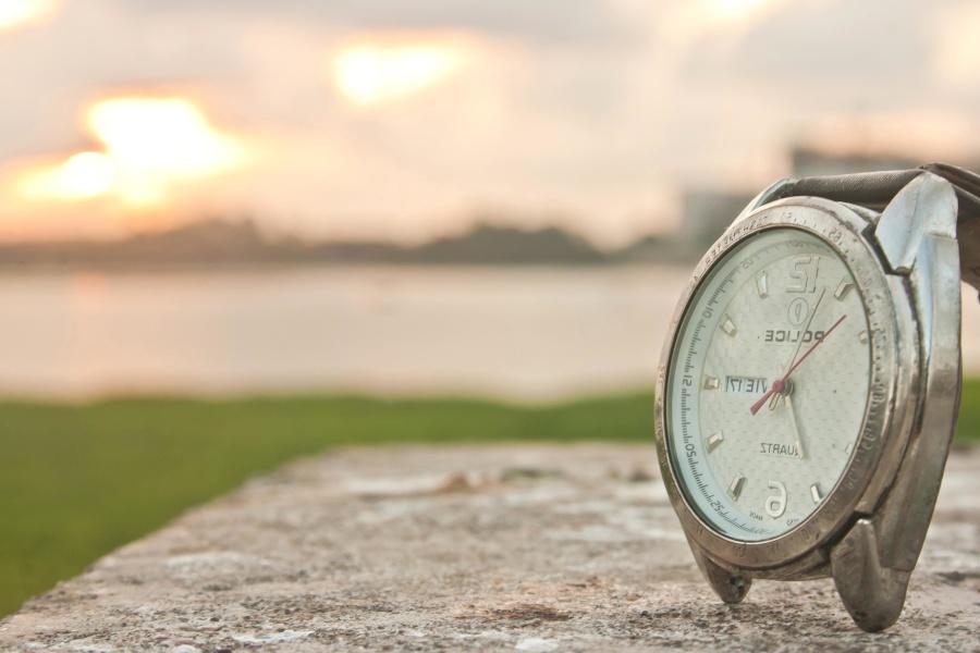 wristwatch, clock, time, hour, chrome, metal
