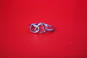 heart, shape, ring, red, jewelry, silver, metal