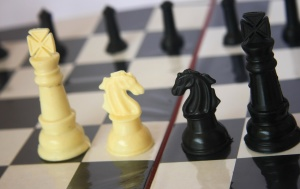 chess, king, black, white, game, plastic, toy, strategy