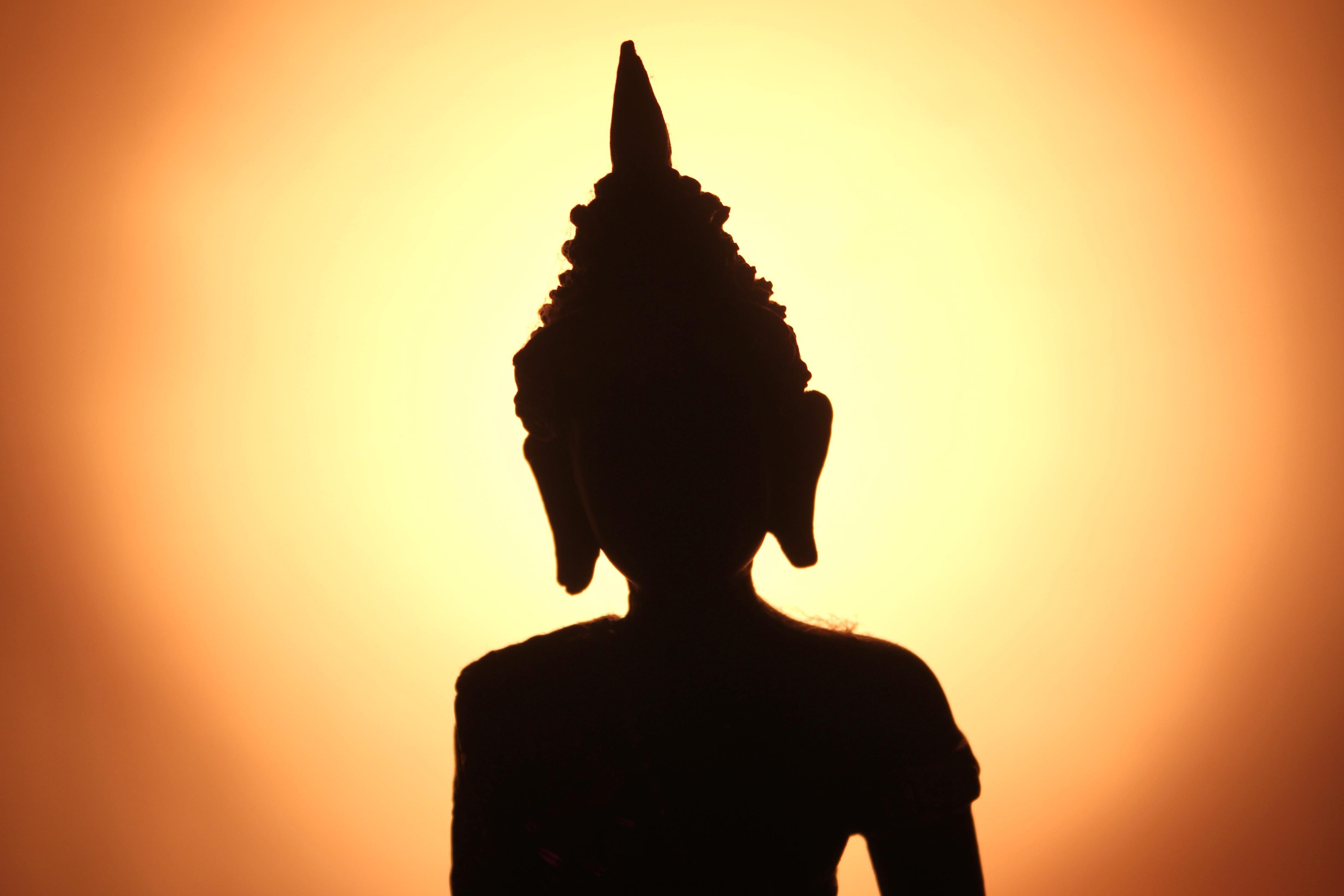 Kostenlose Bild Buddhismus Silhouette Schwarzes Kunst Religion