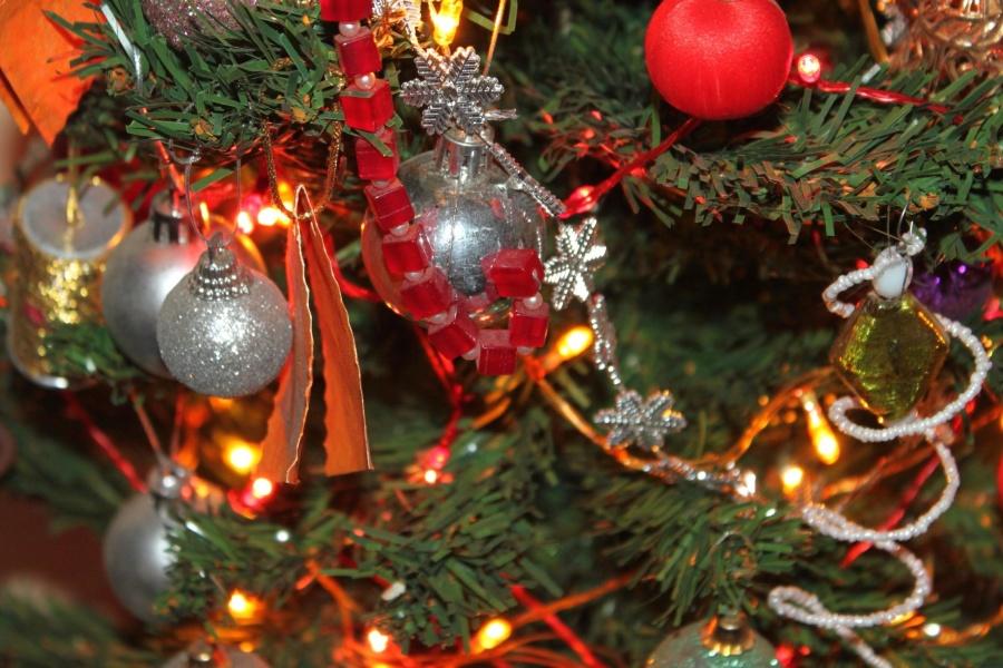 Natale, celebrazione, ramo, pianta, albero, foglia, decorazione