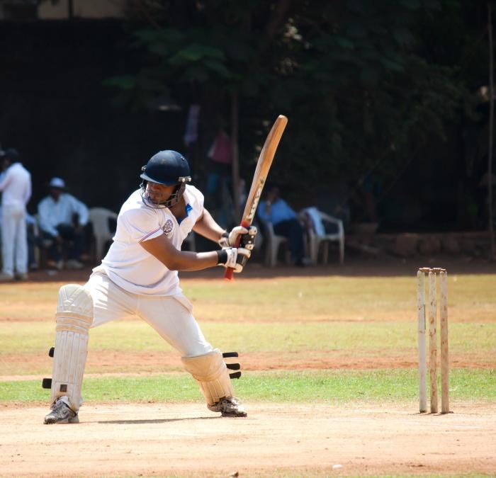 Cricket, palla, uomo, sport, casco, ricreazione