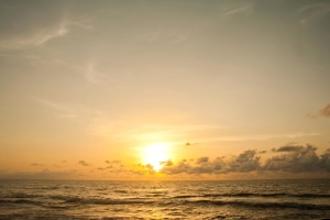 waves, sea, sun, sunset, sky, sunrise, atmosphere, silhouette