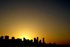 sunset, building, city, architecture, urban, cityscape, building