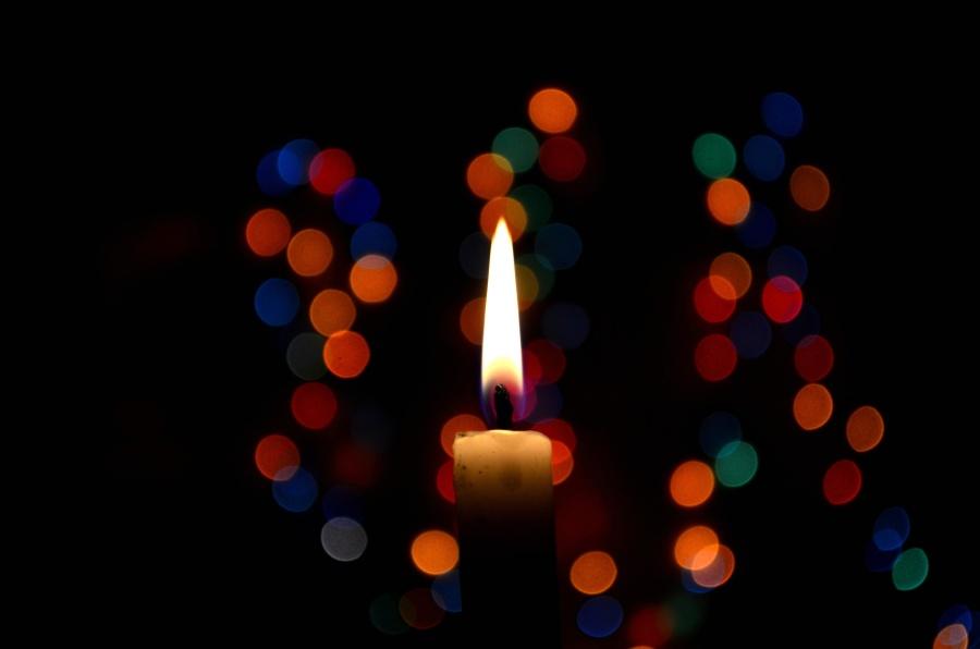 lys, mørk, flamme, lys, ild, dekorasjon