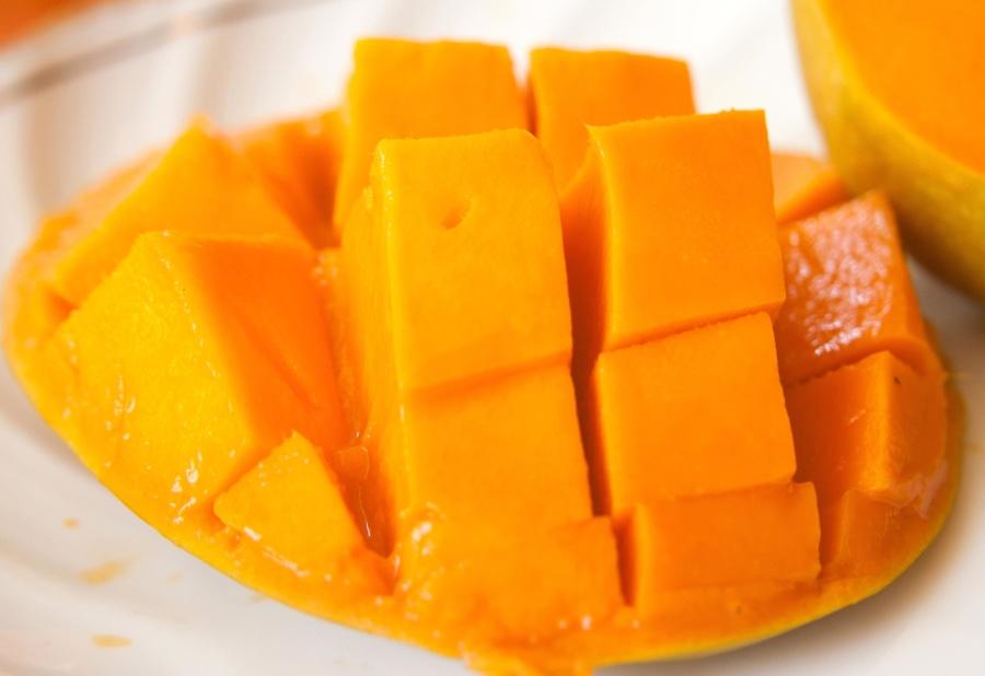манго, парче, диета, храна, плодове