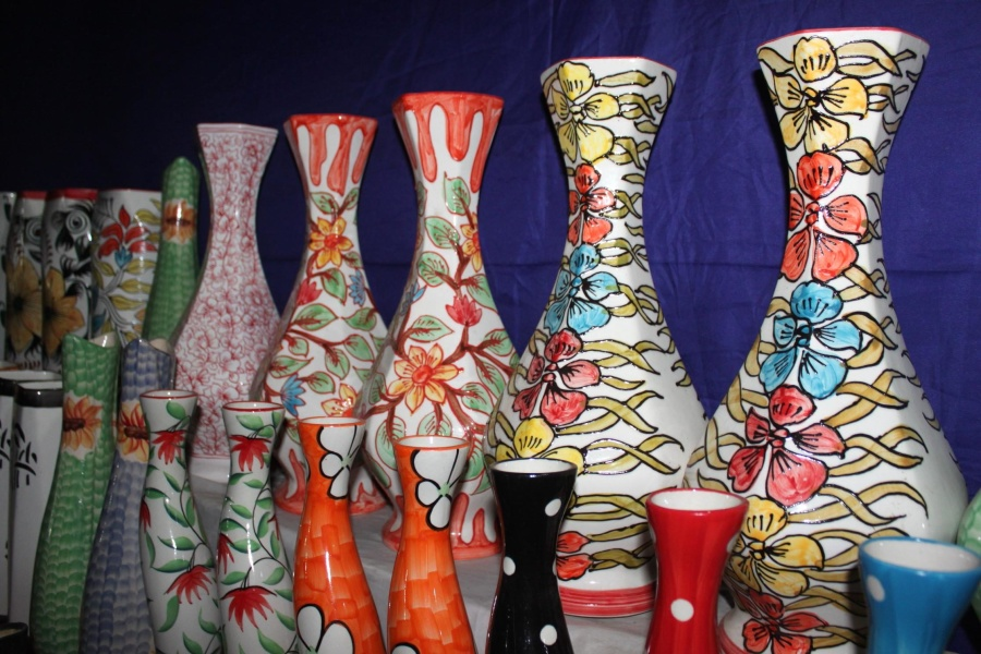 Colorido, florero, objeto, arte