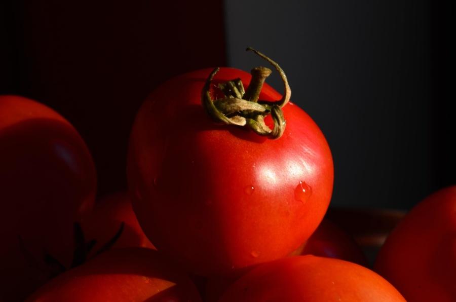 warzyw, żywności, pomidor, czerwona, dojrzałe, świeże