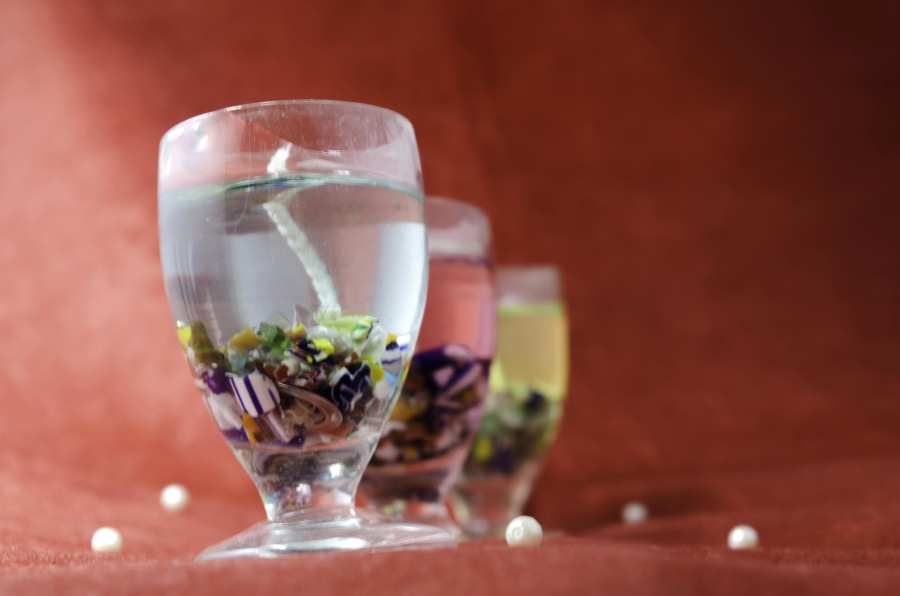 candle, glass, liquid, decoration, party, crystal