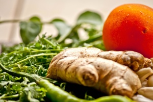 összetevő, gyökér, saláta, étel, diéta, gyömbér