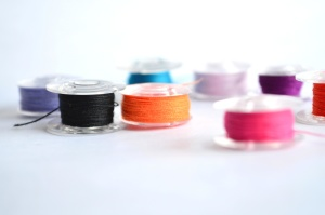 jahit thread, warna-warni, pbject, plastik, warna