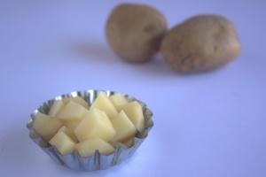 Patata, comida, dieta, metal