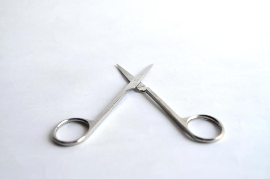 Free picture: scissors, tool, equipment, steel, metal, object