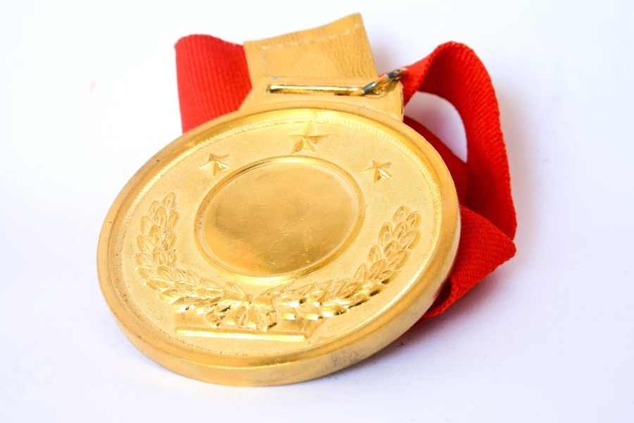 gold medal, gold, metal
