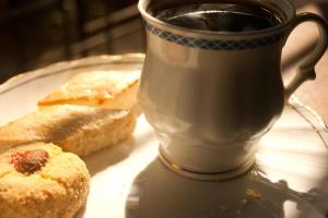 Kahvin, aamiaisen, ruokavalio, ruoka, keksi, jälkiruoka