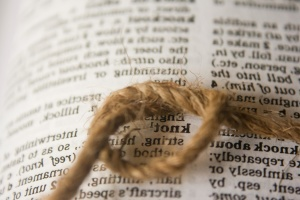 knot, dictionary, newspaper, book