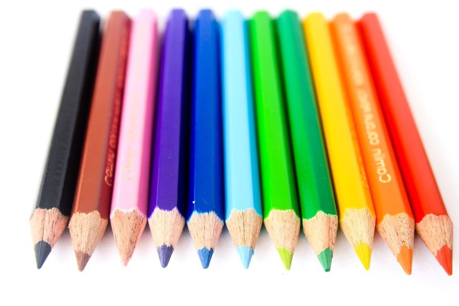 color, pencil, crayon, education, rainbow, colorful
