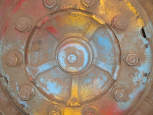 metal, iron, rust, object, wheel