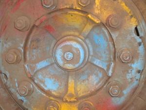 Metal, hierro, moho, objeto, rueda