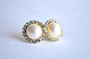 珍珠, 耳环, 白色, 珠宝, 银色