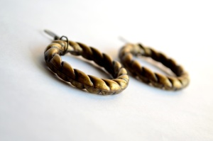 earrings, brass, copper, metal