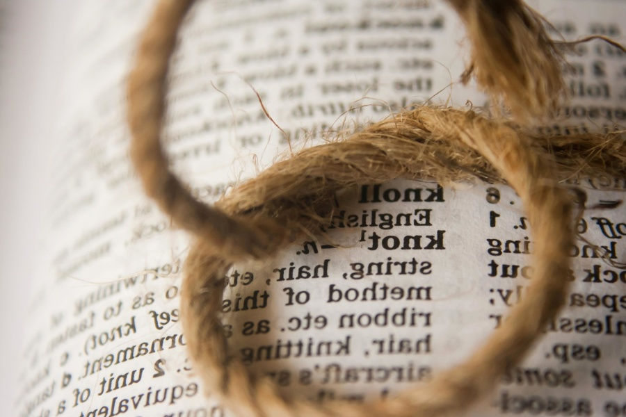 knot, dictionary, word, text, book