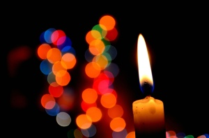 candle, light, decoration, dark, flame, fire