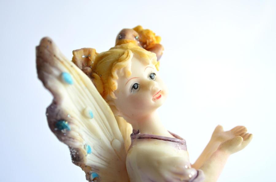 Angelo, giocattolo, scultura, plastica, arte, colorito