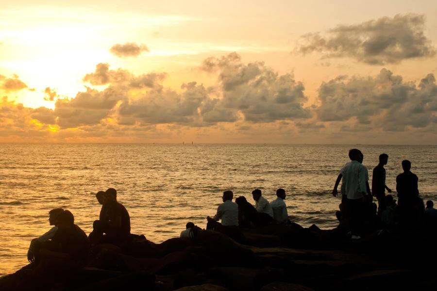 sea, beach, water, sunset, sun, sky, ocean, coast, summer