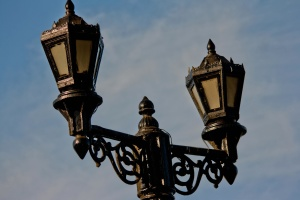 street lamp, lamp, lantern, iron, decoration