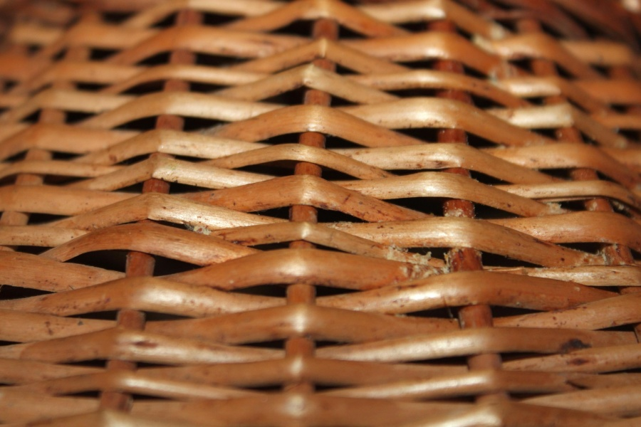 wicker basket, bamboo, pattern