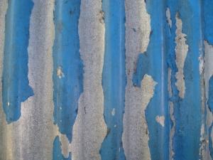 蓝色, 油漆, 金属, 疼痛, 铁, 锈