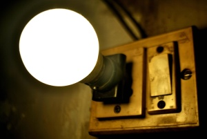 antique, switch, light bulb, electricity, white