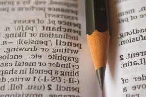 pencil, dictionary, paper, text, book