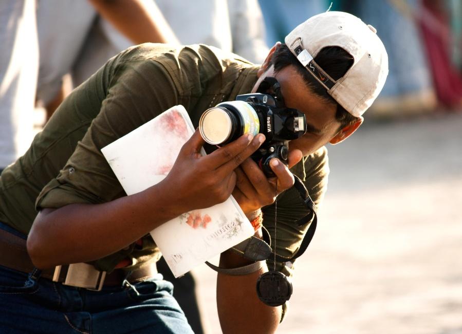 photo camera, photographer, man, people, portrait, fashion