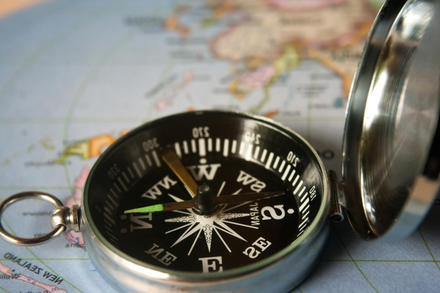 compass, instrument, device, map, navigation