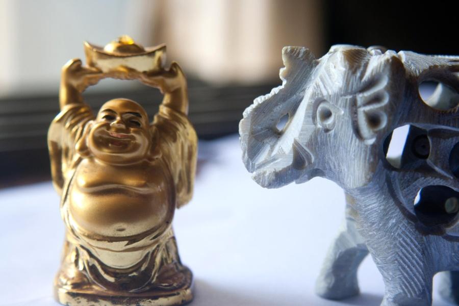 彫刻、像、芸術、金、古代、宗教、アンティーク、装飾、文化