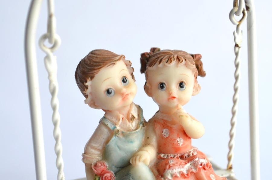 toy, romance, boy, girl, childhood, happiness