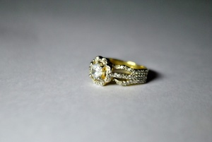 ring, jewelry, gold, metal, luxury