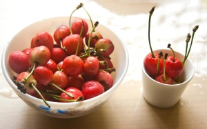 cherry, bowl, fruit, berry, sweet, food, diet, ripe fruit, dessert